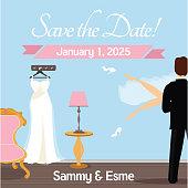 Save the Date - Wedding Night Theme