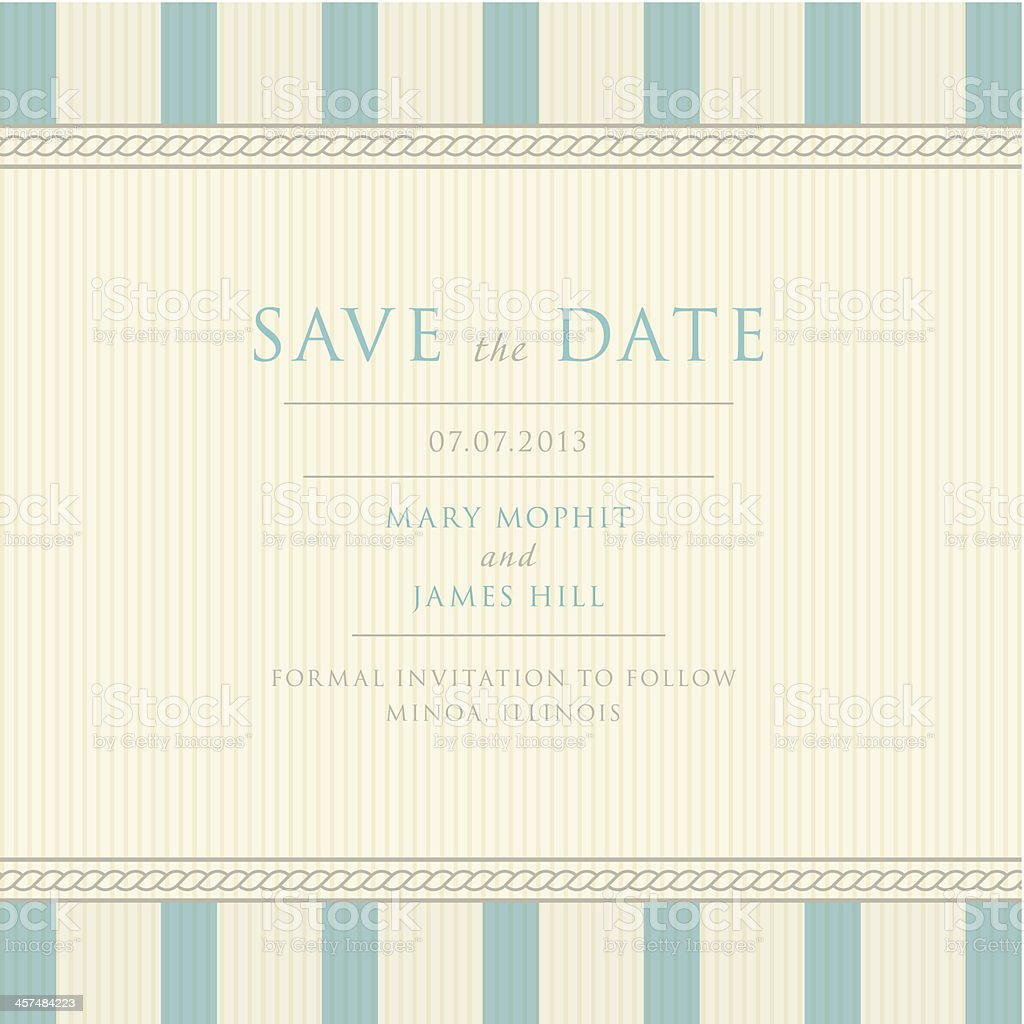 Save the Date with vintage background artwork vector art illustration