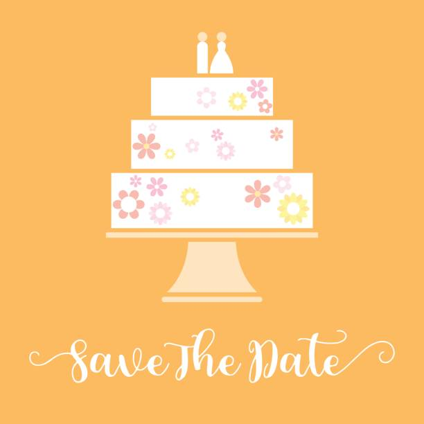 Royalty Free Wedding Cake Stand Clip Art, Vector Images ...