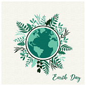 Save the earth concept illustration stock background