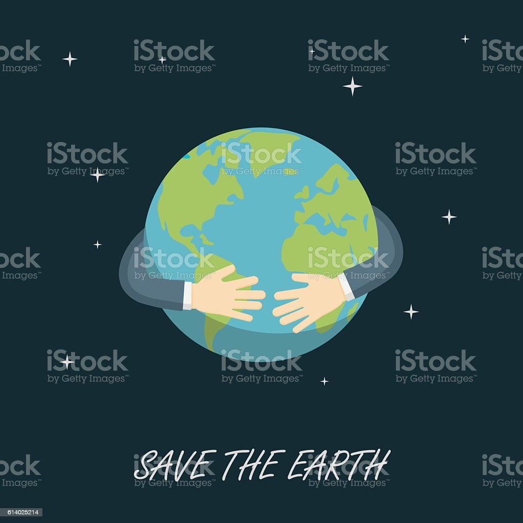 Save The Earth, Save The Planet vector art illustration