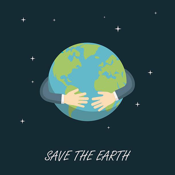 ilustrações de stock, clip art, desenhos animados e ícones de save the earth, save the planet - future hug
