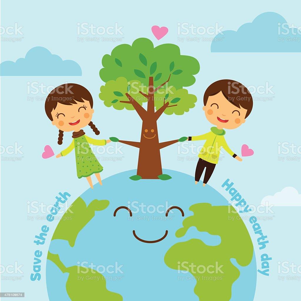 Sauver La Terre économisez Monde Sauver La Planète Garçon En
