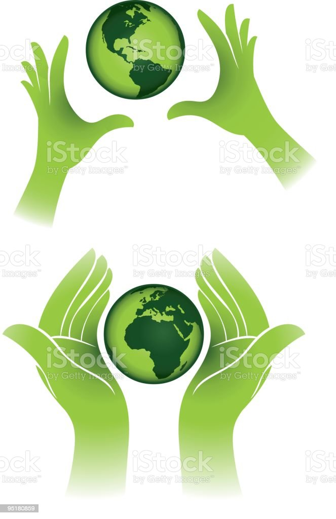 Save the planet icons vector art illustration