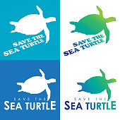 Vector of save Sea Turtle icon. EPS Ai 10 file format.