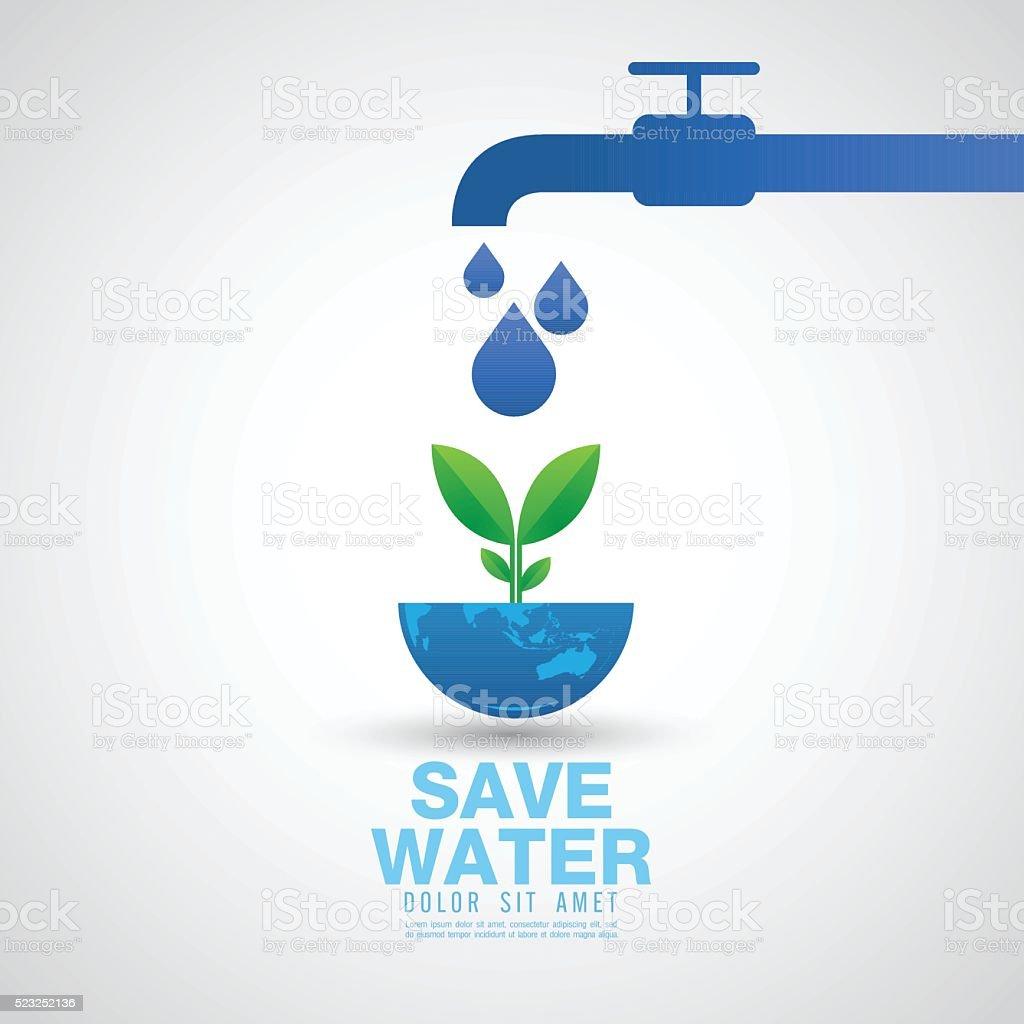 save the water Vector Illustration vector art illustration