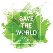 Save the world banner