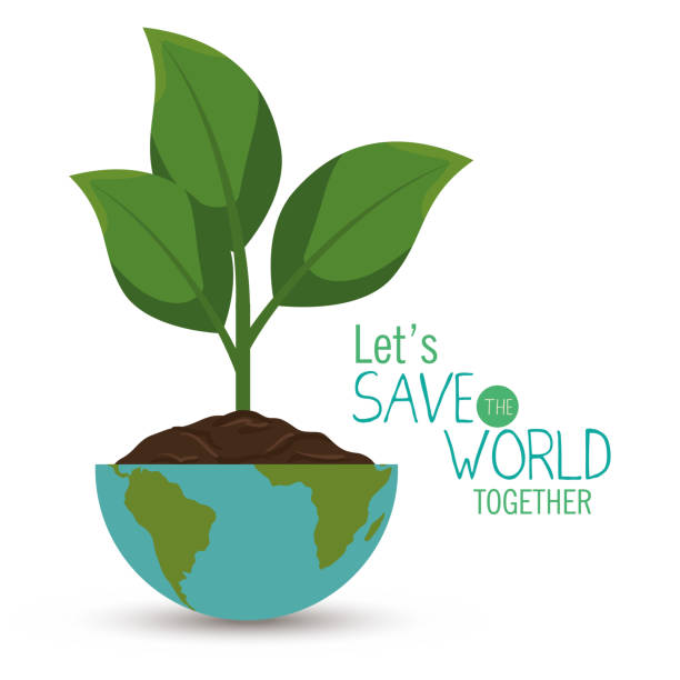 save the world concept icon - sustainability stock illustrations