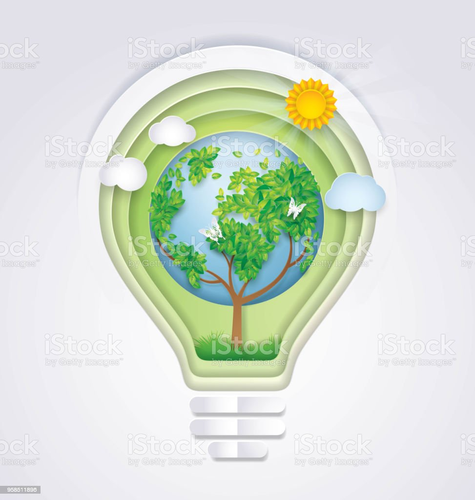 Save the world light bulb with earth tree tree shaped like world map save the world light bulb with earth tree tree shaped like world map rising gumiabroncs Gallery