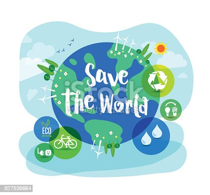 istock Save the World sustainable development concept illustration 527536664