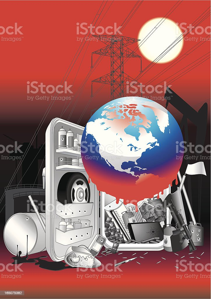 Save the World royalty-free stock vector art