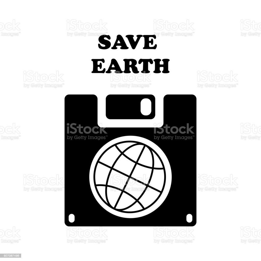 Save the world vector symbol save earth planet on floppy disk stock save the world vector symbol save earth planet on floppy disk royalty free save buycottarizona Choice Image
