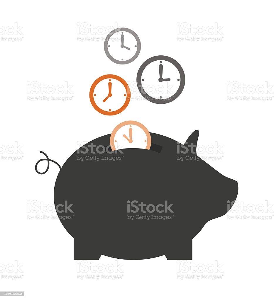 save time vector art illustration