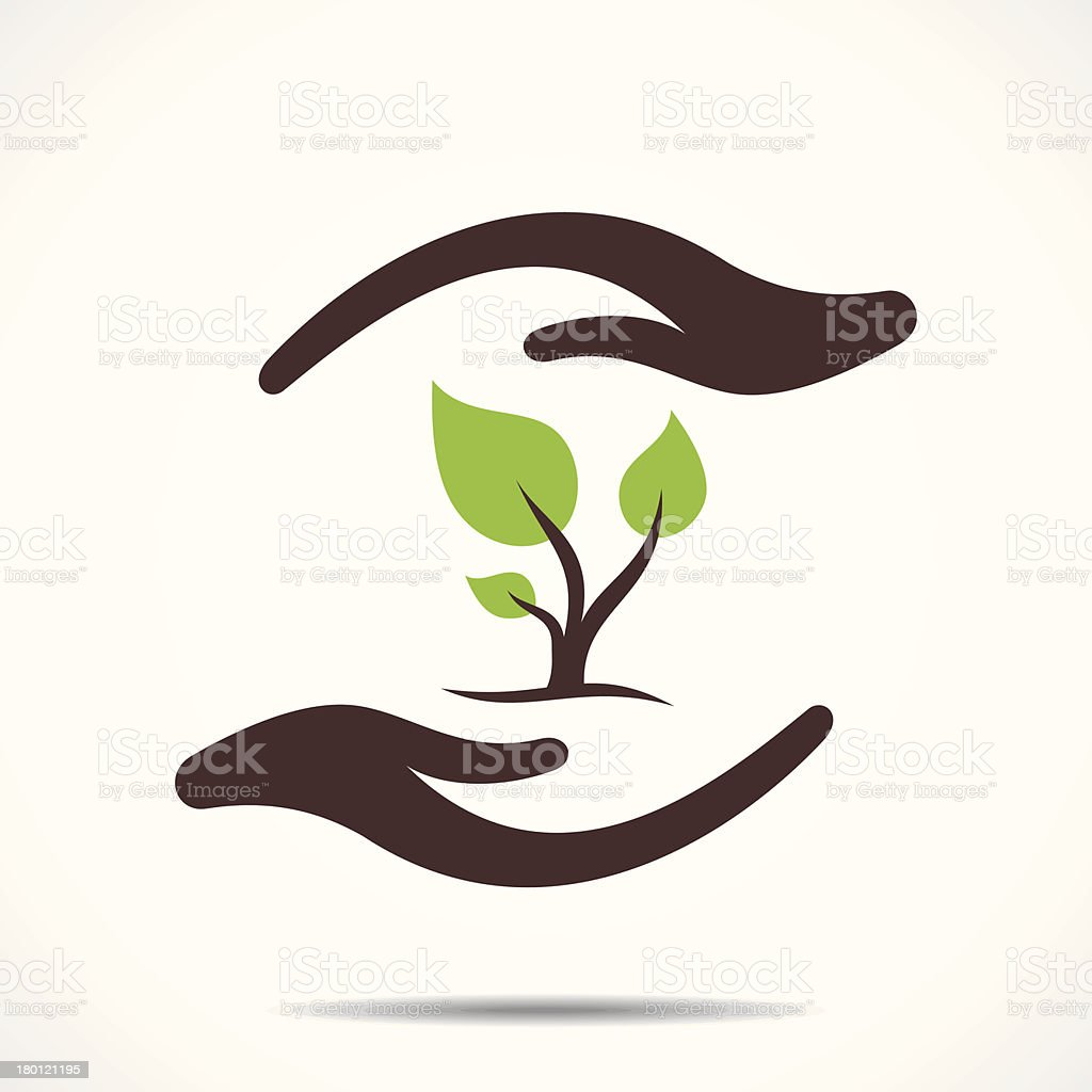save tree concept vector art illustration