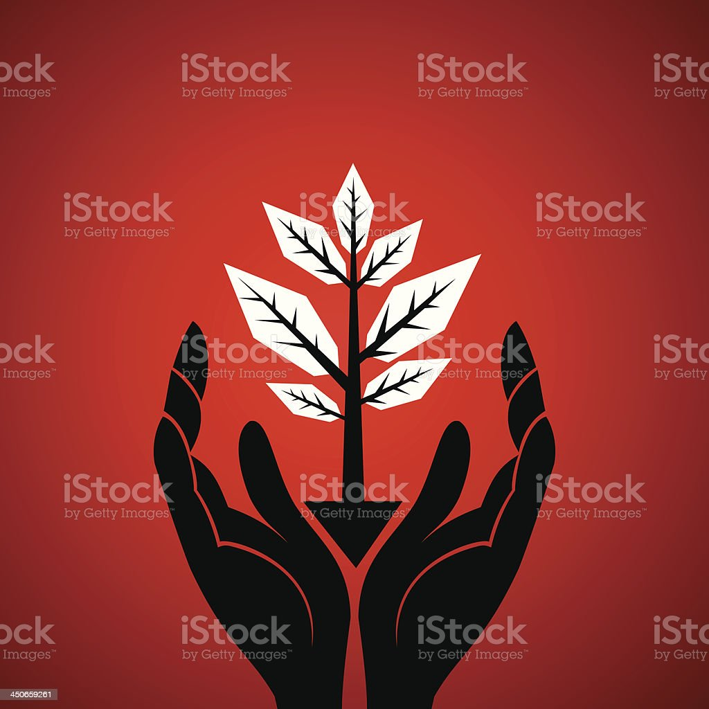 save tree concept royalty-free stock vector art
