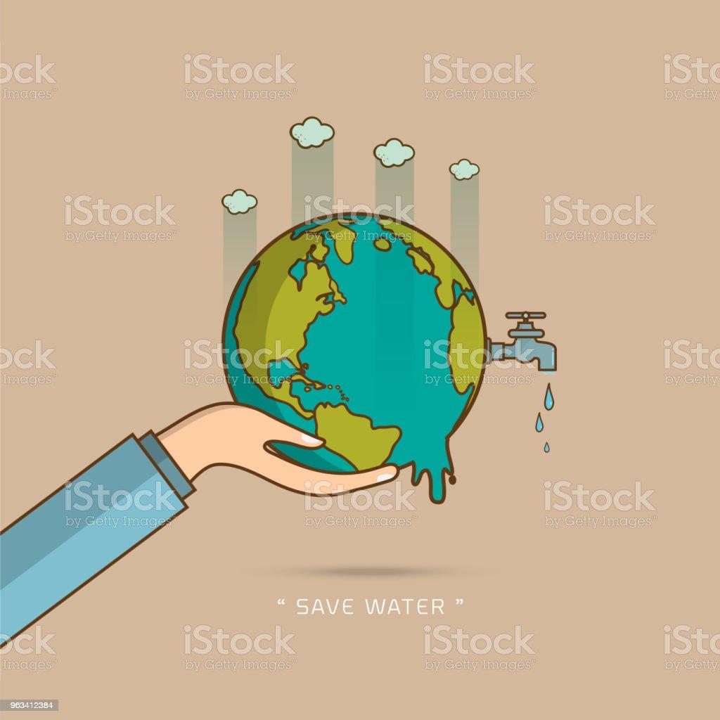 Zapisz ilustrację wektorową projektu wody - Grafika wektorowa royalty-free (Abstrakcja)
