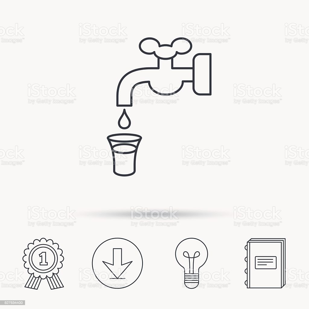 Save water icon crane with drop sign stock illustration download image now
