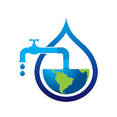 save water save world. eps 10 vector file