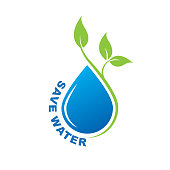 save water. eps 10 vector file