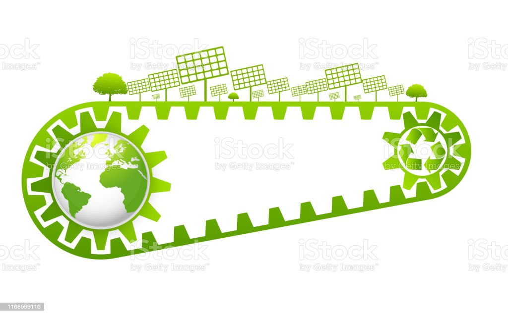Saving And Ecology Friendly Concept World Environmental Vector