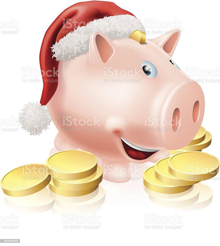 Saving for Christmas Concept royalty-free stock vector art
