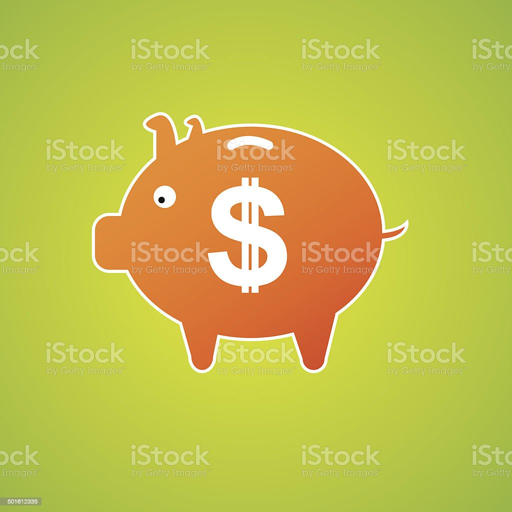 saving icon over green background royalty-free stock vector art