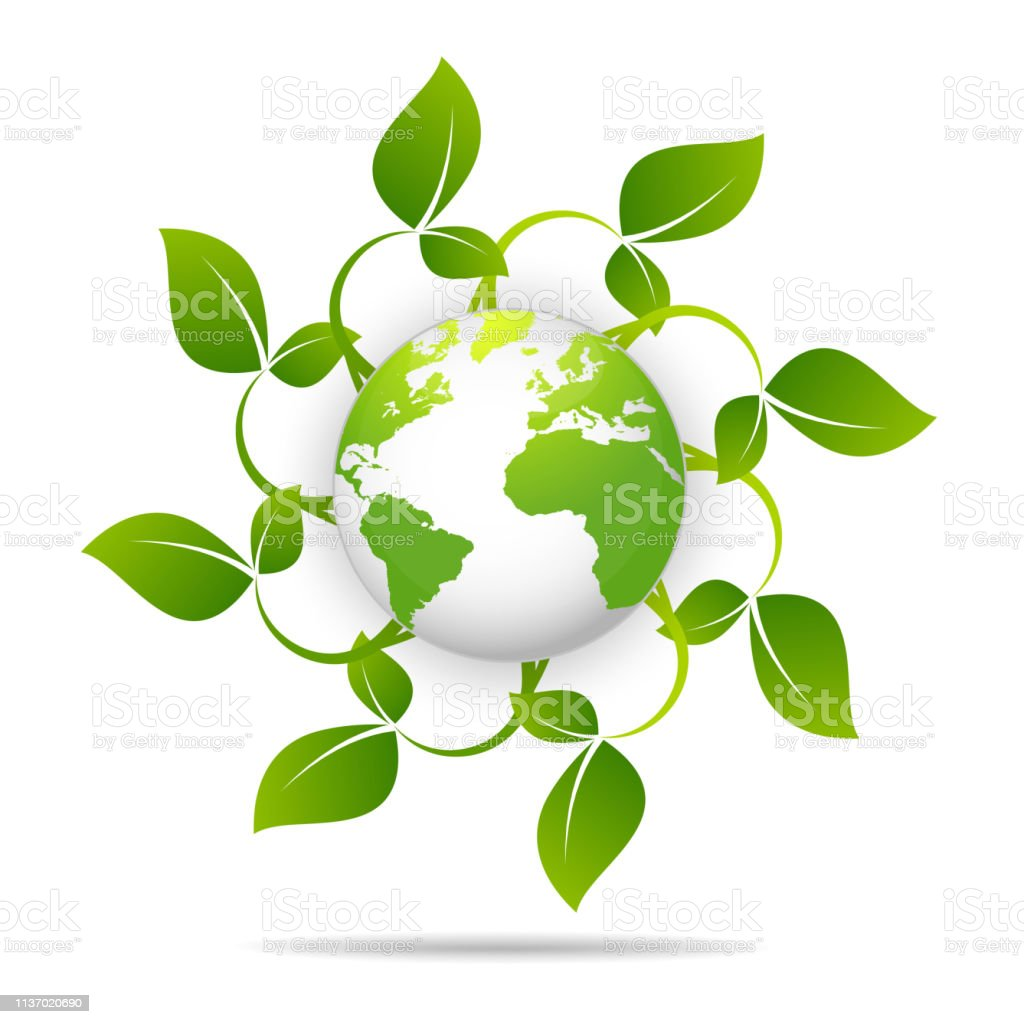 Saving logo and ecology friendly concept World environmental Vector...