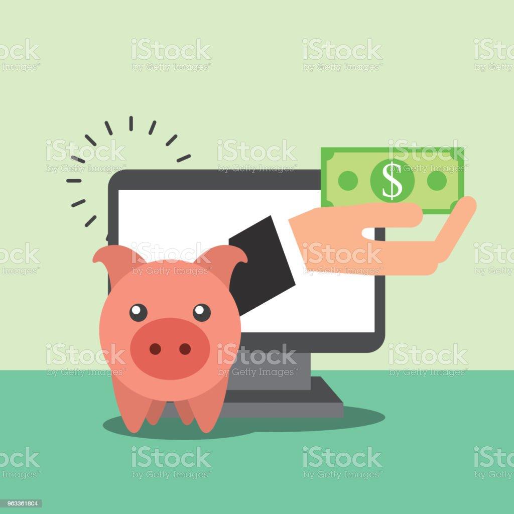 negocio de dinero del ahorro - ilustración de arte vectorial