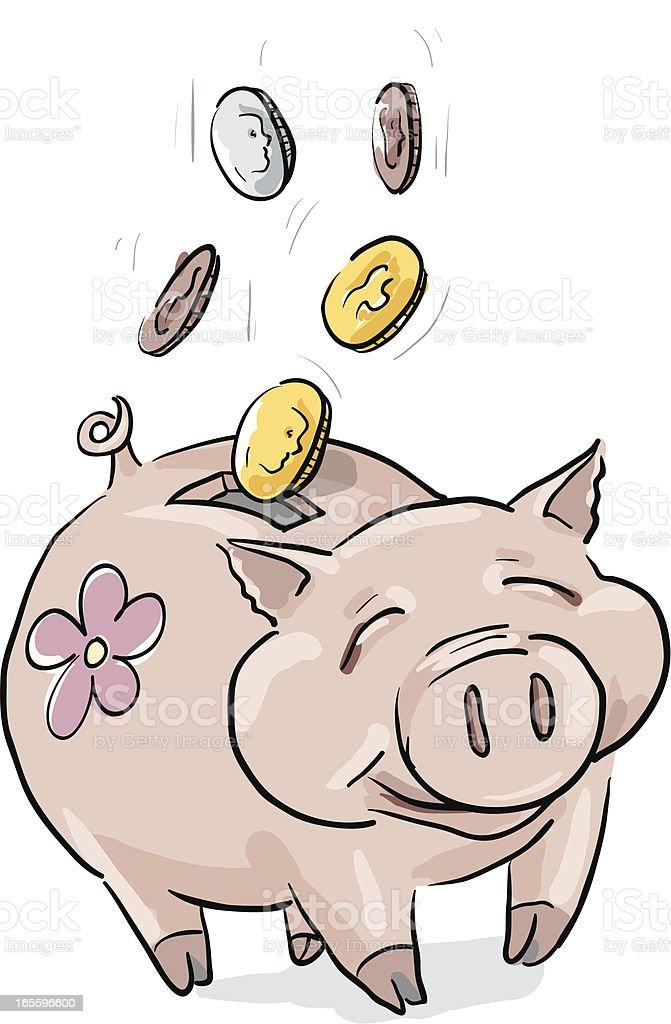 Ahorra dinero alcancía ilustración de ahorra dinero alcancía y más banco de imágenes de ahorros libre de derechos