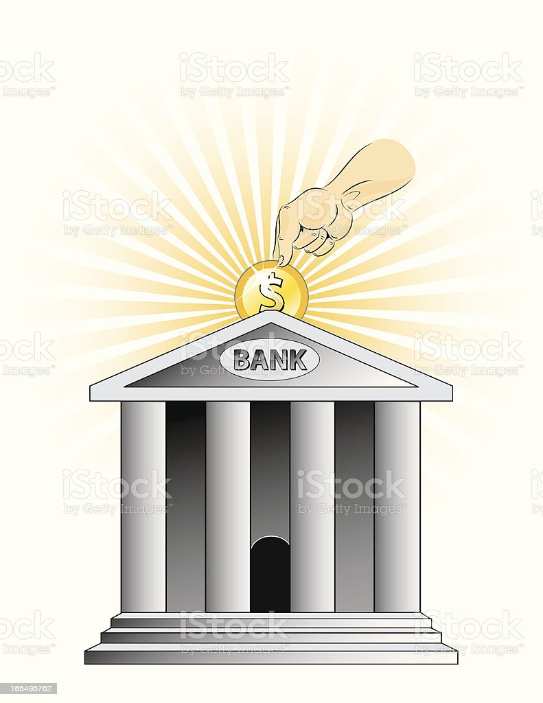 Saving Money royalty-free stock vector art
