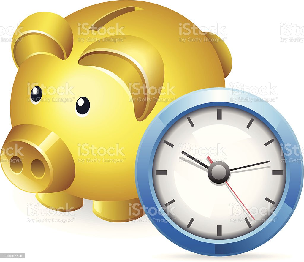 Saving Time royalty-free saving time stock vector art & more images of banking