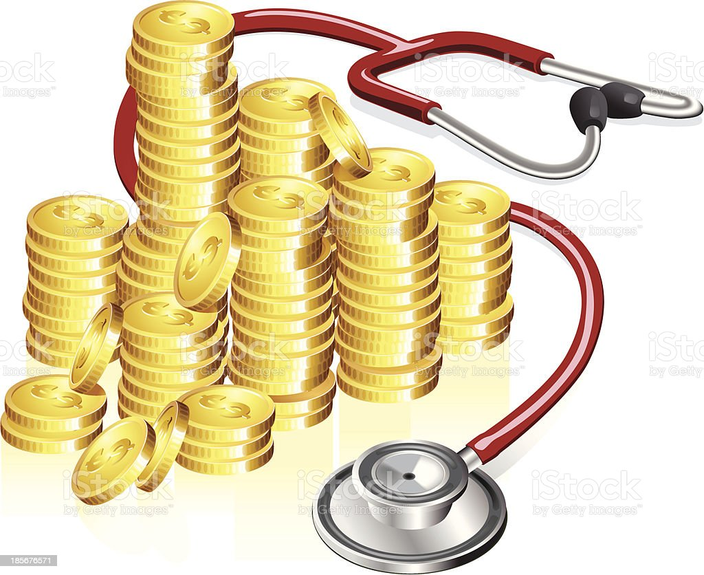 Saving up for health care royalty-free stock vector art