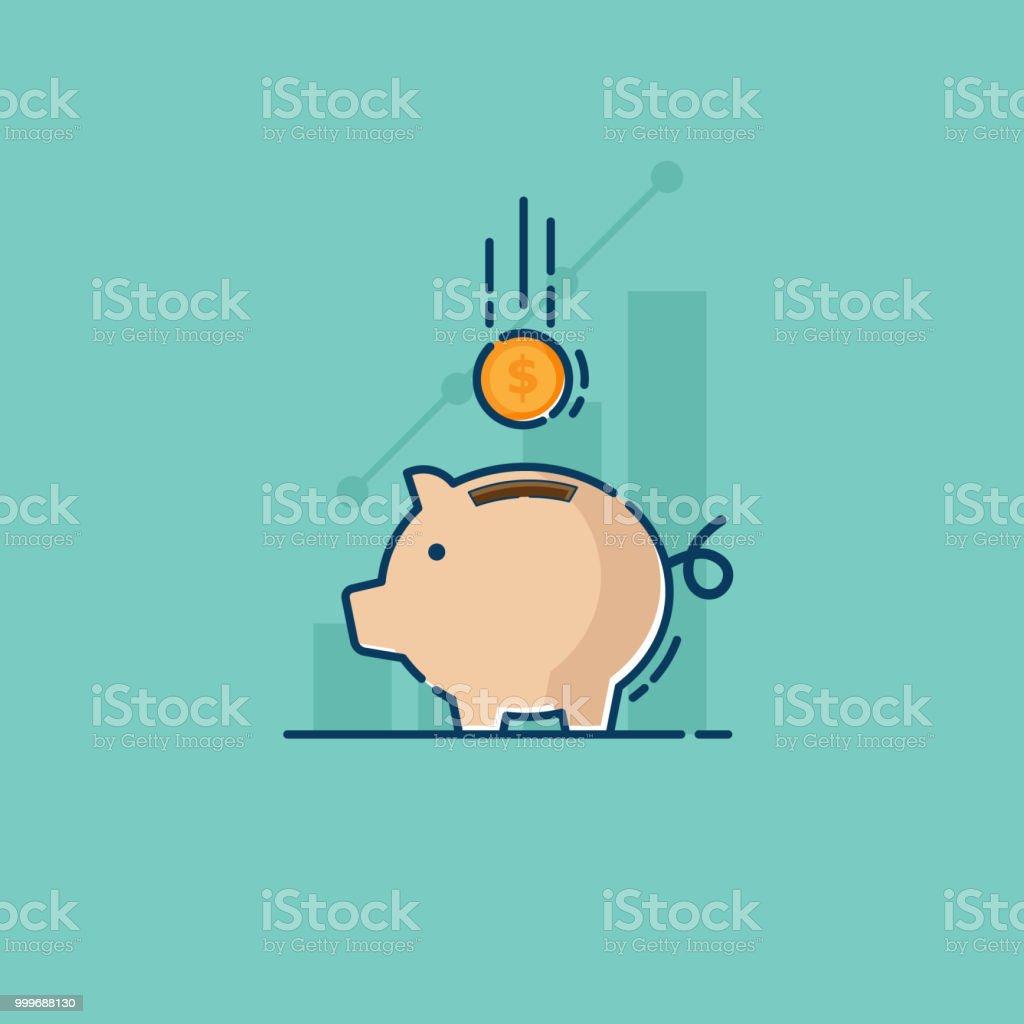 貯金とコインを保存 ロイヤリティフリー貯金とコインを保存 - アイコンのベクターアート素材や画像を多数ご用意