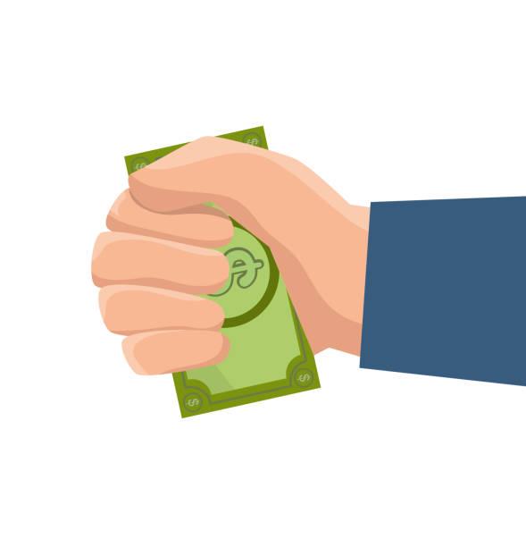 concepto de ahorro y dinero - ilustración de arte vectorial