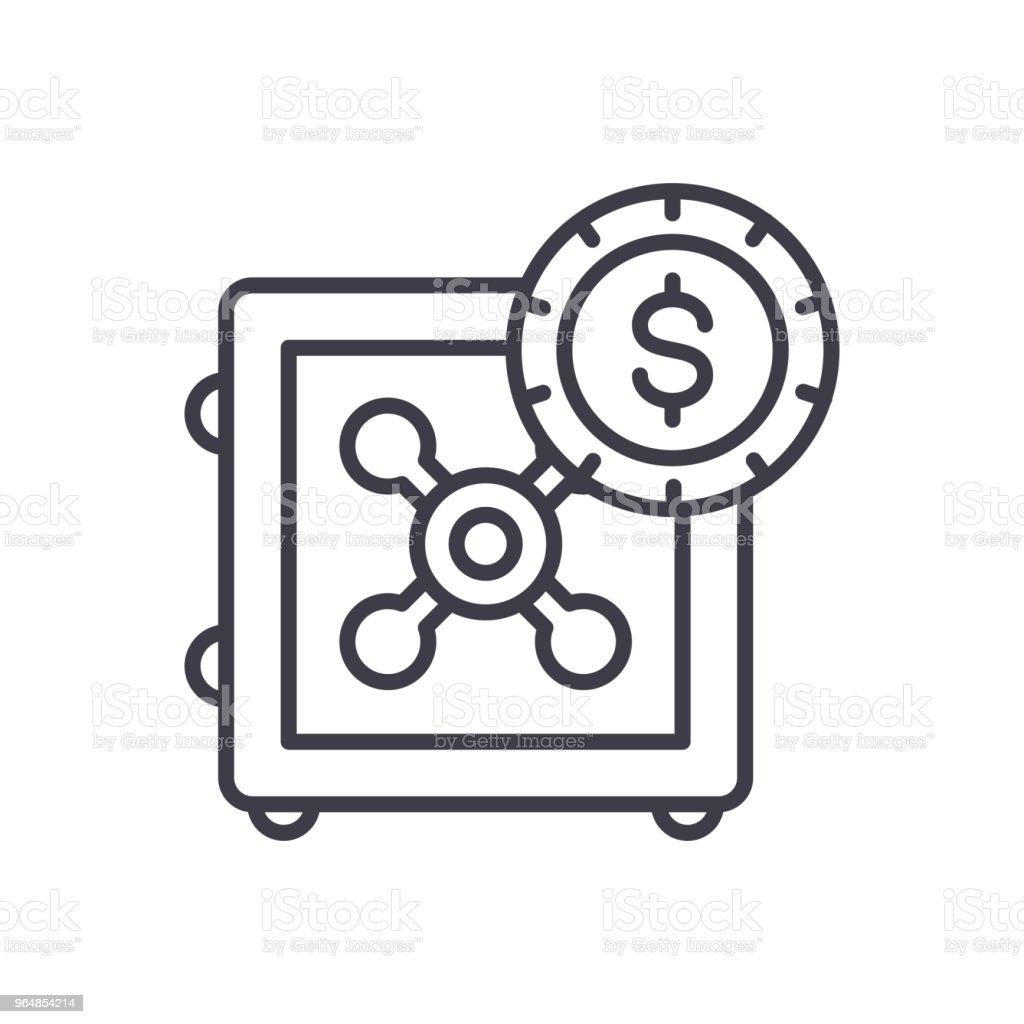Savings policy black icon concept. Savings policy flat  vector symbol, sign, illustration. royalty-free savings policy black icon concept savings policy flat vector symbol sign illustration stock vector art & more images of accidents and disasters