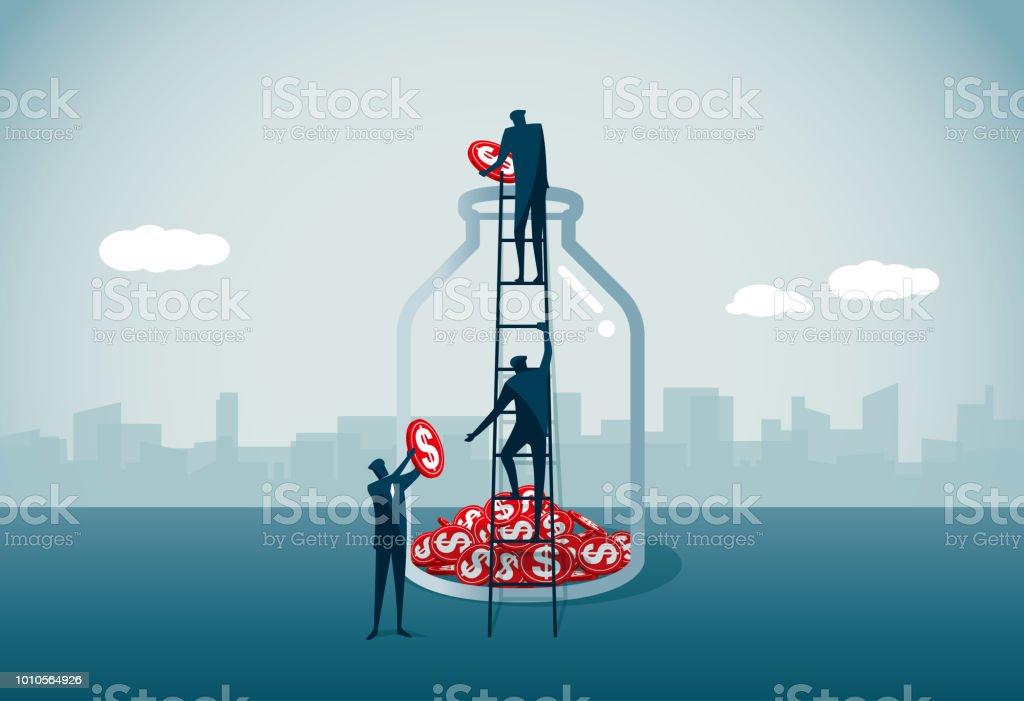 savings vector art illustration