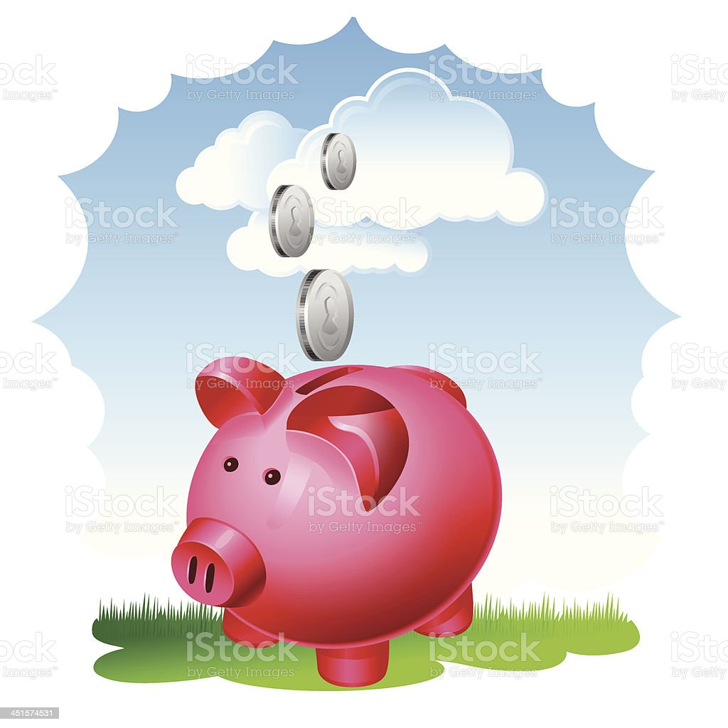 Savings royalty-free stock vector art