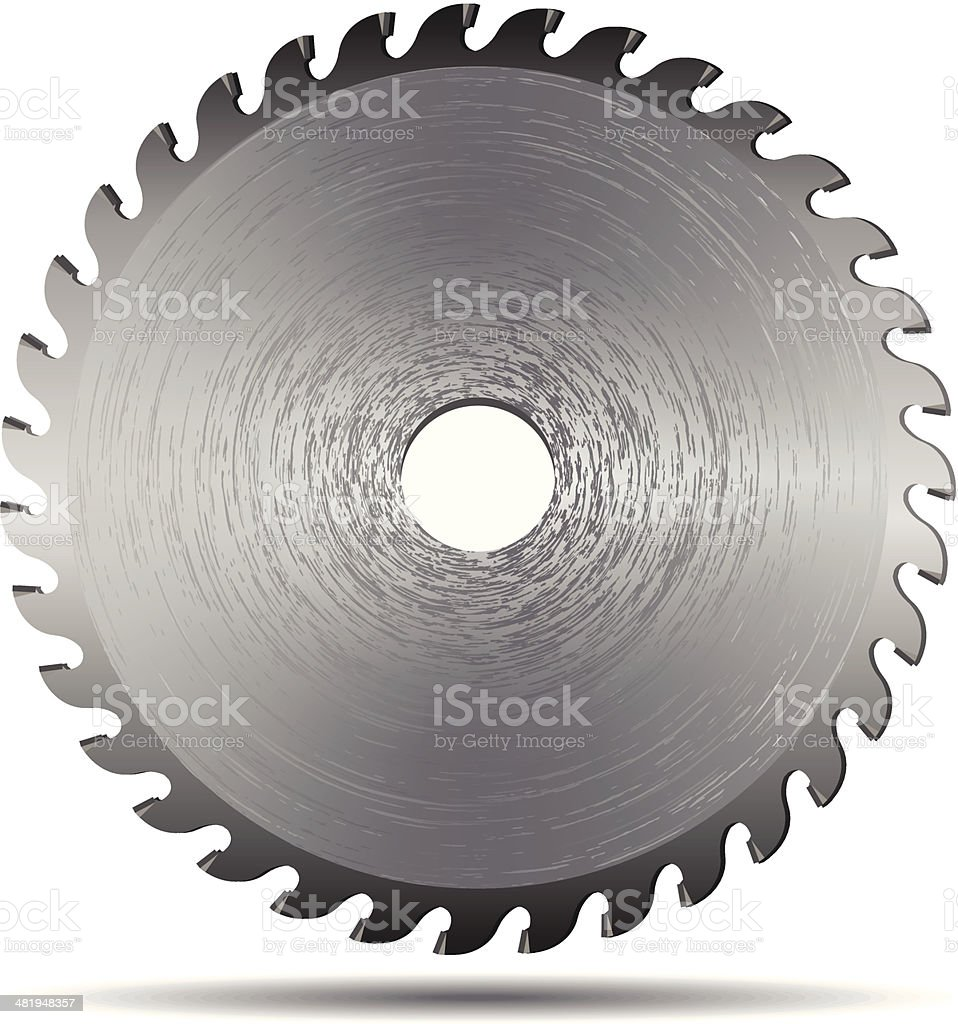 Saw Blade vector art illustration