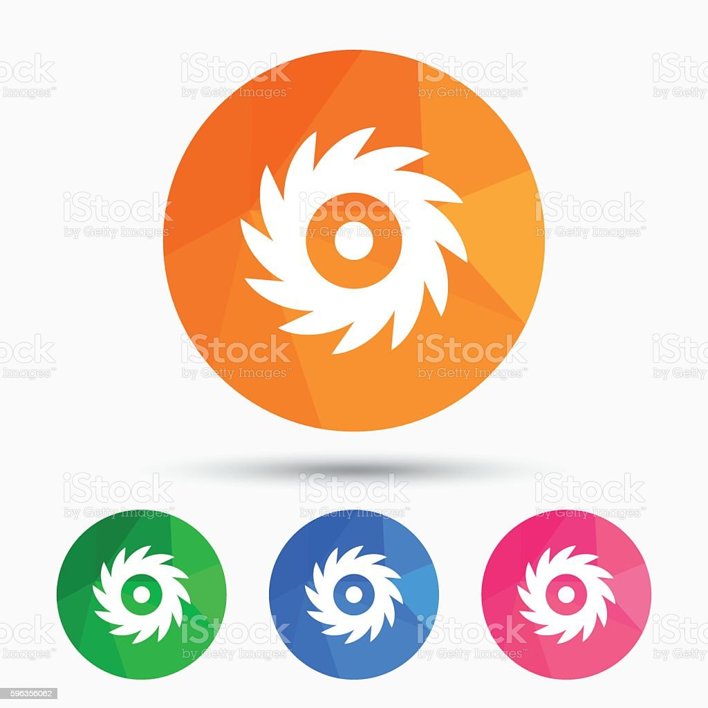 Saw circular wheel sign icon. Cutting blade. royalty-free saw circular wheel sign icon cutting blade stock vector art & more images of badge
