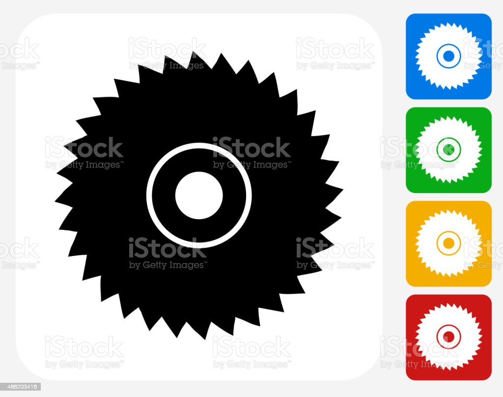 Saw Icon Flat Graphic Design vector art illustration