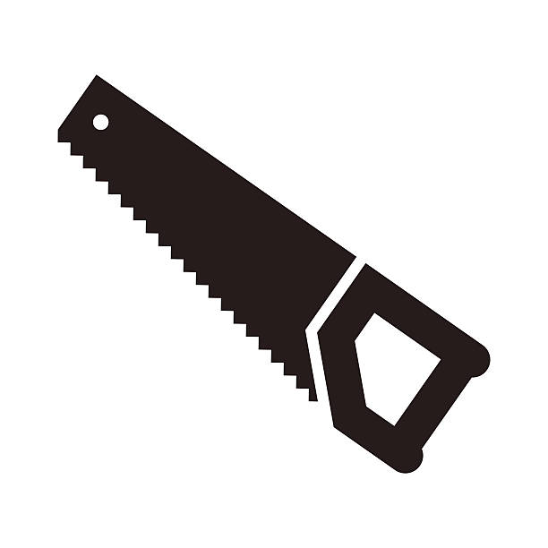 stockillustraties, clipart, cartoons en iconen met saw tool icon - saw