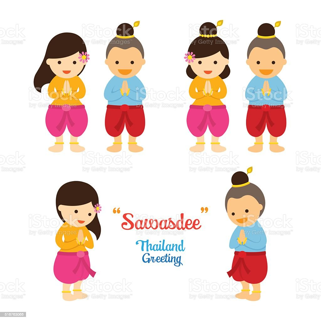 Sawasdee kids in traditional thai clothing stock vector art more sawasdee kids in traditional thai clothing royalty free sawasdee kids in traditional thai clothing m4hsunfo Gallery