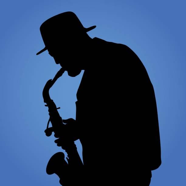 saxaphone player - jazz stock illustrations