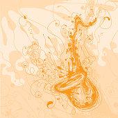 Expressive saxophone sketch