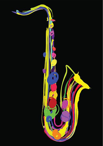 Saxophon Illustrationen – Vektorgrafik