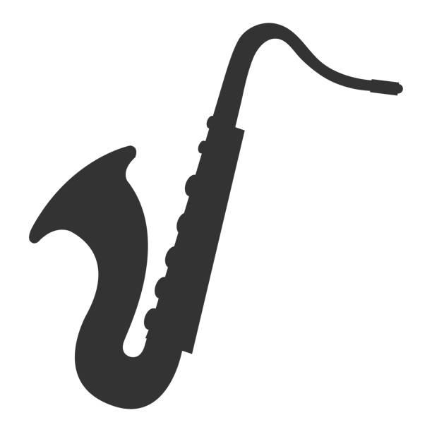 ilustrações de stock, clip art, desenhos animados e ícones de saxophone instrument isolated icon - saxofone
