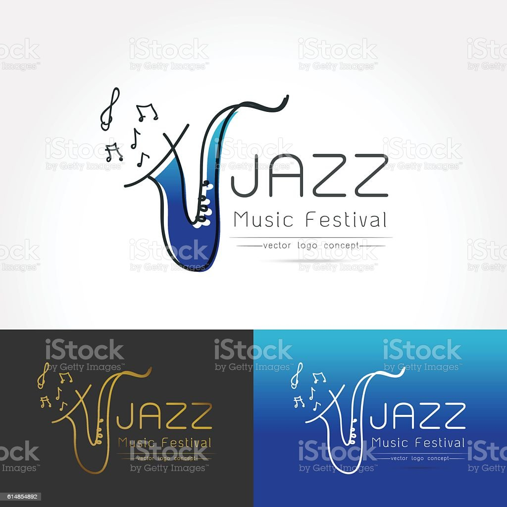 saxophone logo vector symbol vector art illustration