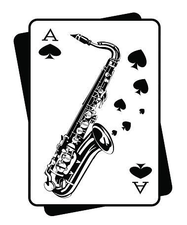 Saxophone. Music concept.