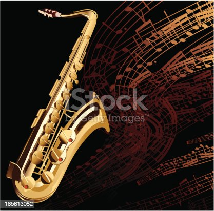 Musical background with a saxophone. Alternative archive contains PDF 1.4