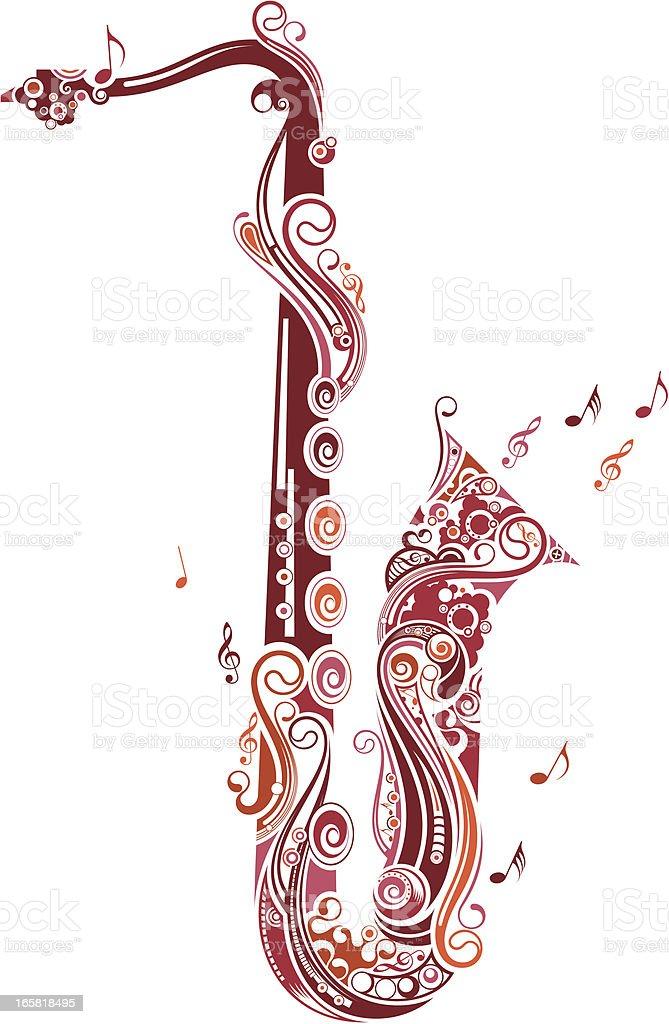 saxophone royalty-free saxophone stock vector art & more images of cartoon